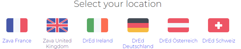 select your location
